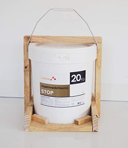 Revestimiento Elástico Impermeabilizante Stop · Pintura para Impermeabilizar parámetros horizontales en Terrazas, Azoteas, Balcones y Tejados · Color Blanco · 20KG (16,6 L) · Promoción Especial F