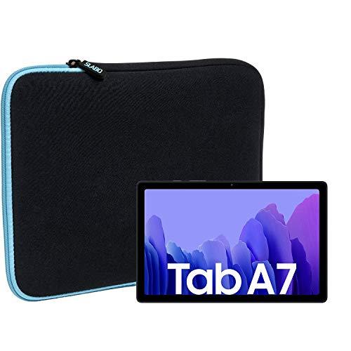 Slabo Funda Universal para Samsung Galaxy Tab A7 (2020) Funda Protectora de Neopreno - Turquesa/Negro