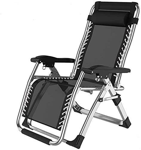 Patio Lounge Chairs Recliner Folding Reclining Chairs Metal Sun Lounger Garden Patio Beach Home Decking Holiday Lounger Chairs-9 (Color : 1)