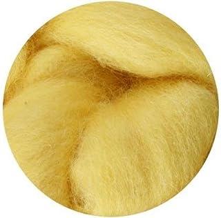 NZ Corriedale Wool Roving for Felting - 1 Ounce Custard