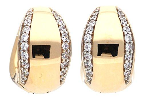 Esprit Collection Damen Ohrringe Creolen 925 Silber Rosegold Danae ELCO91730B000