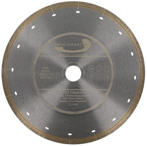 PRODIAMANT FD30 CleanRim - Disco de diamante para azulejos (230 mm, para gres porcelánico, tamaño grande, piedra natural, mármol, pizarra y granito)