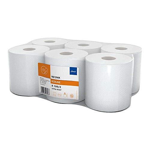 laminx Hla-Remak-100 Ellis EcoLine papieren handdoeken, wit, 6 stuks
