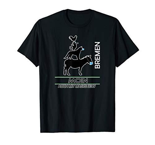 Moin Stadtmusikanten mit Schutzmaske - Fan von Werder Bremen T-Shirt