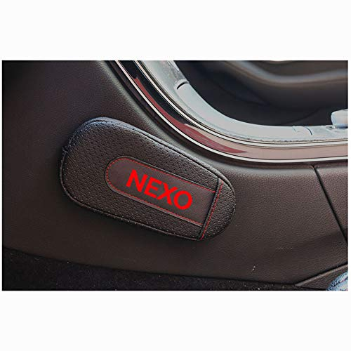 2 STKS lederen Voetsteun Kussen Autodeur arm pad Armsteun Rest Pads Accessoires Voor Hyundai Nexo