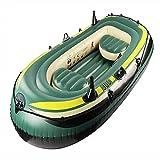 ZMMYD Juego de Bote Inflable, Kayak de Aire para Pesca de Alta Resistencia, Juego de Canoa, Kayak de Barco de Pesca Resistente al Desgaste Plegable Engrosado,3 Person Boat