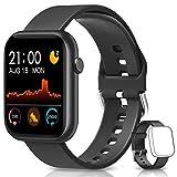 BANLVS Smartwatch, Reloj Inteligente Mujer Hombre con Correa Repuesta, Smartwatch Impermeable IP67 con Monitor de Sueño Contador de Caloría Pulsómetros Podómetro para Android iOS
