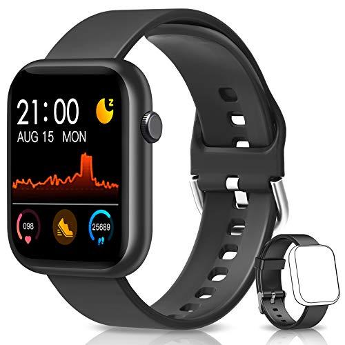 BANLVS Smartwatch, Reloj Inteligente Hombre Mujer con Correa Repuesta, Reloj Smartwatch Impermeable IP67 con Monitor de Sueño Contador de Caloría Pulsómetros Podómetro para Android iOS