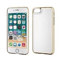 エレコム iPhone SE 第2世代 2020 / 8 / 7 対応 ケース ハード 薄軽+頑丈 [UVコート加工で傷がつきにくい] サイドメッキ 細部までフィットする極み設計 ゴールド PM-A19APVKMGD
