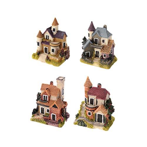 Yardwe Miniature Fairy Garden House village miniature fairy garden accessories decorations ornaments