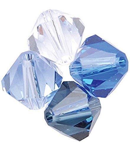 Swarovski - Create Your Style 47500515 Xilion Bicone Swarovski Crystal Beads, Blue 30 Piece