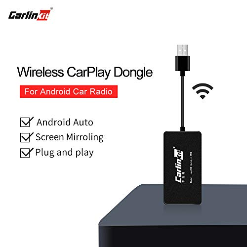 Carlinkit Wireless Carplay USB Dongle Wired Android Auto Multimedia Receiver for aftermaket vihecle with Android System Unit Radio Upgrade Plug and Play(only Support Wireless carplay with iPhone