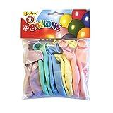 Lot de 10 ballons 'Globos' Macaron pastel