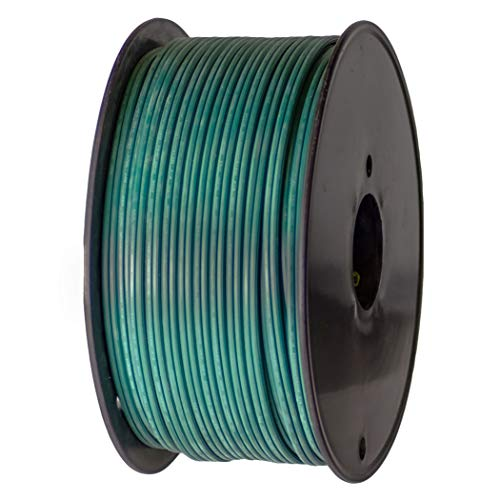 Holiday Lighting Outlet Green SPT-2 Commercial-Grade Bulk Blank Wire | 18 AWG 10 Amps | 250-Foot Spool Green Zip Wire