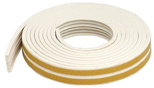M-D Building Products 2618 All Climate EPDM Rubber Weatherseal for Gaps 1/16-Inch to 1/8-Inch, White by M-D Building Products