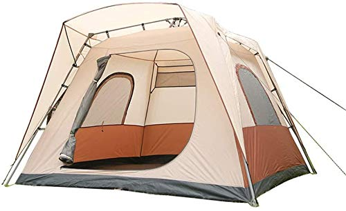JFZCBXD Outdoor Dome Family Camping Tent, Easy to Setup Instant Pop Up Tents, Waterproof 2000MM, Durable Fabric Full Coverage for Hiking Picnic Traveling