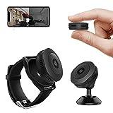 sZeao Mini Telecamera Spia Nascosta 1080P HD Videocamera Indossabile Smart Bracelet con con Rilevamento del Movimento E Visione Notturna per L'Ufficio Domestico All'aperto