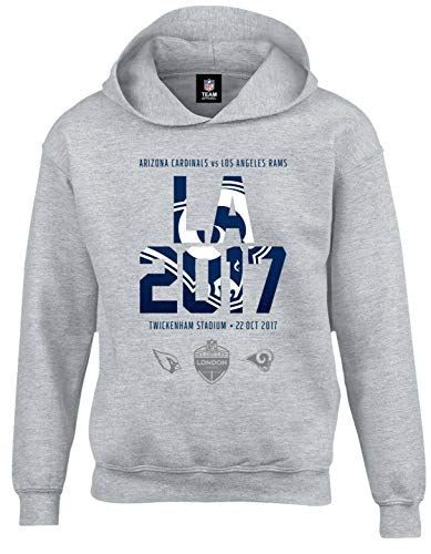 Fanatics LA Rams NFL London Games 2017 Kinder Team Hoodie 11-12 Jahre grau