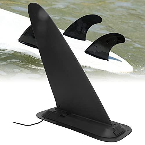 FOLOSAFENAR Aleta de Tabla de Surf Inflable, Tablero de Paleta de Pintura Negra Aleta de Cola Accesorio de Surf Flexible y Estable para Surf para Cualquier Tabla de Surf