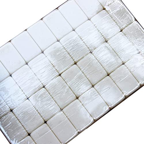 Riyyow Professionelles chinesisches Mahjong-Spiel mit 2 Würfel- und exquisiten Aufbewahrungsbox, Mini-tragbarem Mahjong-Indoor-Brettspiel, Haus Tragbares chinesisches Mahjong-Spiel (Color : Ivory)