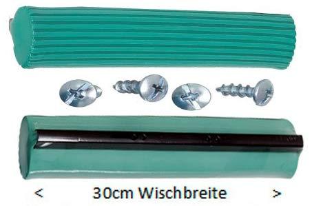 Alpha S4® Original 30 cm Mop-Saugwisch-Schwamm + 4 Schrauben (Ober- Unterseite)