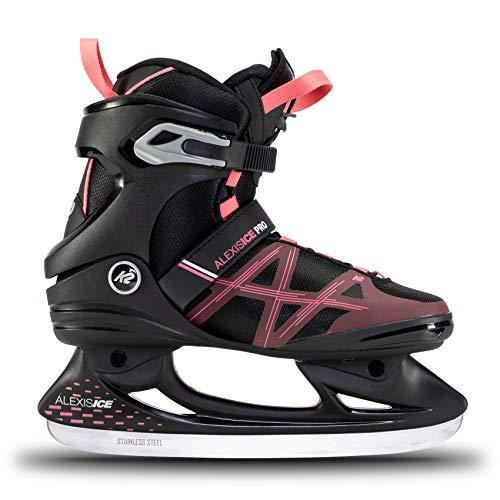K2 Skates Damen Schlittschuhe Alexis Ice Pro — Black - Rose — EU: 39.5 (UK: 6 / US: 8.5) — 25E0031