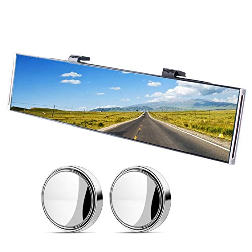 Flat Wide Car Rear View Mirror, Anti glare rear view mirror, Clip on mirror, car rearview mirror, rearview mirrors, long rear view mirrors for cars, SUV, truck 11.8' L x 3.15' H