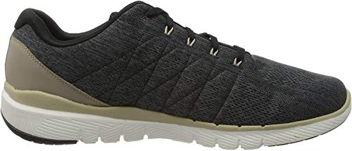 Skechers FLEX ADVANTAGE 3.0- STALLY-52957, Herren Low-Top, Schwarz, 49.5 EU
