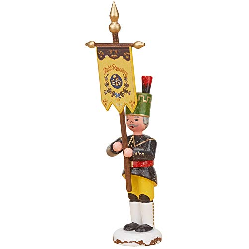 Hubrig Volkskunst Winterkinder Bergmann mit Standarte - 9 cm