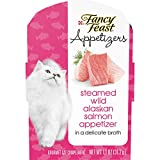 Ten (10) 1.1 Oz. Tray - Purina Fancy Feast Appetizers Steamed Wild Alaskan Salmon Adult Wet Cat Food Complement Made With Real, Recognizable Ingredients In A Delicate Broth Served In A Convenient Peel-And-Serve Container Tender, Flaked Texture To Ple...