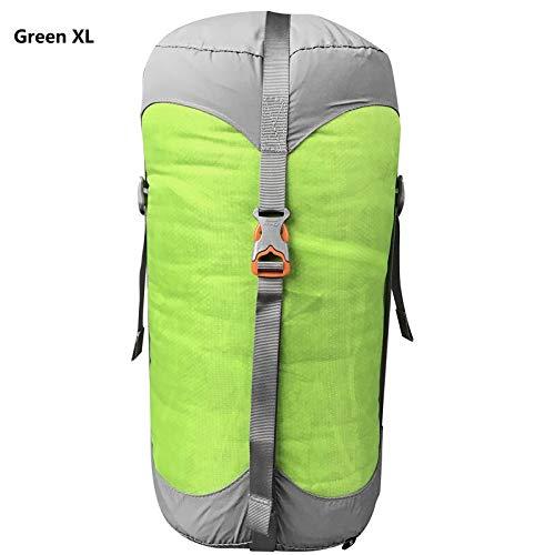 Générique Sac de Compression en Nylon pour Sacs de Couchage de Compression 4 Couleurs 4 Tailles (Couleur : Vert XL)