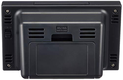 『リズム(RHYTHM) 目覚まし時計 電波時計 温度計・湿度計付き フィットウェーブスマート 黒 7.7×12×5.4cm 8RZ166SR02』の3枚目の画像