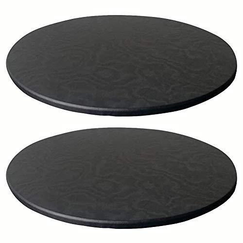 KYJSW 2 manteles redondos de poliéster elástico, lavable y resistente a la suciedad y antideslizante, 60 cm