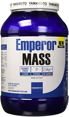 Yamamoto Nutrition Emperor MASS NEW FORMULA gainer ad alto contenuto proteico con aggiunta di MCT, olio di semi di lino, BCAA e L-Glutammina qualità Kyowa ed enzimi digestivi 2500 g (Cioccolato)