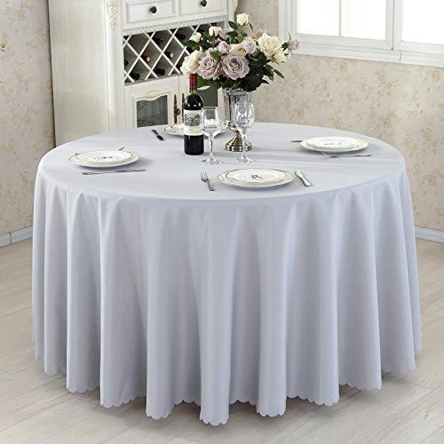 DJUX Mantel de Tejido Liso de Color Puro Mesa de Conferencia Redonda Cubierta de Mesa Falda de Mesa Falda de Mesa Hotel Restaurante Mantel 280cm