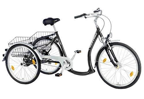 Wild Eagle Unisex– Erwachsene Deluxe Dreirad, Schwarz, 24 inches