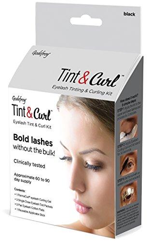 Godefroy Eyelash Tint & Curl For Bold Lashes, 6 Ounce, Black