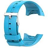 RYRA Correa de Reloj de Silicona Compatible con Polar M400 / M430, Banda de reemplazo de rastreador Deportivo Deportivo Transpirable