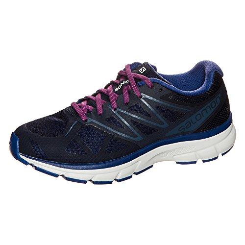 Salomon Sonic Trail Running Shoes - Women's, Evening Blue/White/Blue, L39355800, 10 M US