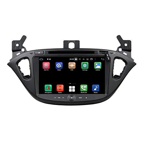 Android 10.0 Autoradio Navigazione GPS per Opel Corsa(2015-2018), 8 Pollici Touchscreen Lettore DVD Radio Bluetooth