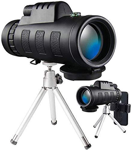 KK Gabby Telescopio monocular, 40x60 Alta Potencia monocular con Adaptador Smartphone