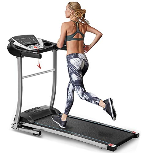 Merax Folding Electric Treadmill Motorized Running Machine Easy Assembly Electric Treadmills for Home, Motorized Fitness Compact Running Equipment with LCD for Home Categories
