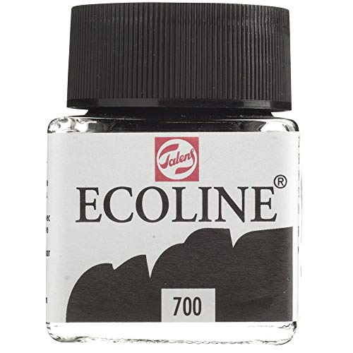 Talens Ecoline -  Vernice a base d'acqua, Nero, 1 Bottiglia x 30ml
