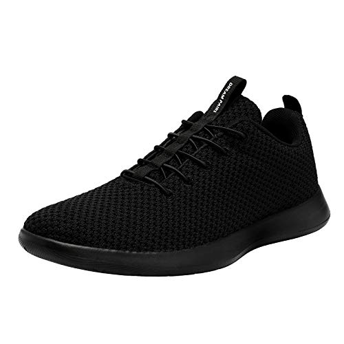 DREAM PAIRS Men's All Black Fashion Sneakers Lightweight Breathable Walking Shoes Size 13 M US Liberty-M