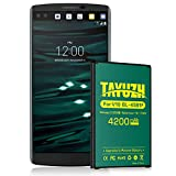 V10 Battery, TAYUZH Upgraded 4200mAh Li-Polymer Replacement Battery for V10 BL-45B1F, H900 AT&T, H901T-Mobile, VS990 Verizon, LS992 Sprint, H961N, H960A | V10 Spare Battery