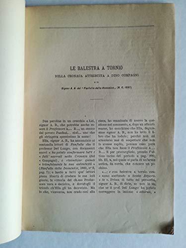 Sulla cronica di Dino Compagni e sul commento del Professore Isidoro Del Lungo al signor A. B. e al Cav. Salvatore Bongi. Risposte