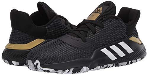 adidas Men's Pro Bounce 2019 Low Basketball Shoe, Black, 9