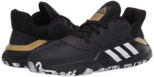 adidas Men's Pro Bounce 2019 Low Basketball Shoe, Black, 11 M US