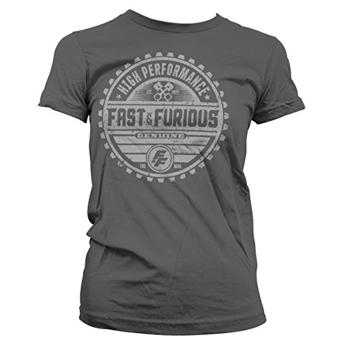 Fast & The Furious Genuine Brand Official Women T-Shirt (D.Grey), Small