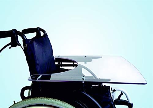 TheraMedical Rollstuhl-Therapietisch 8 mm, ohne Kante, verschiedene Sitzbreiten (43-51 cm)